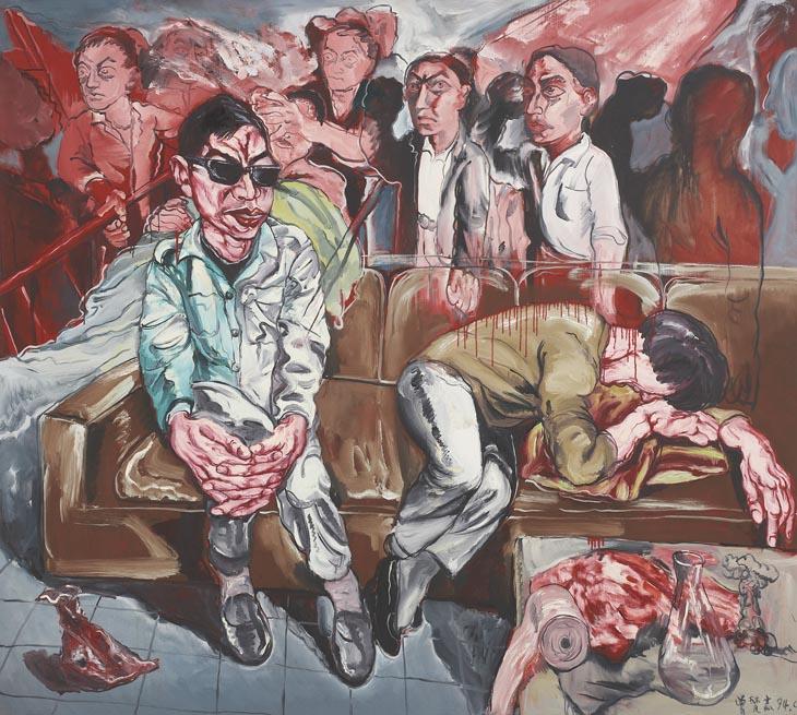"Zeng Fanzhi, ""Hospital series"", 1994. Źródło: Saatchi Gallery"
