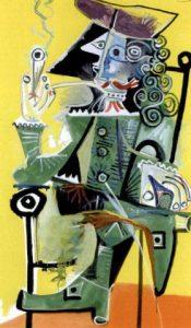 """Pablo Picasso, """"Mousquetaire à la pipe"""". Źródło: Sotheby's"""