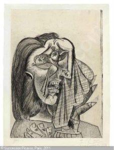 """Pablo Picasso, """"La femme qui pleure, I"""". Źródło: Christie's"""