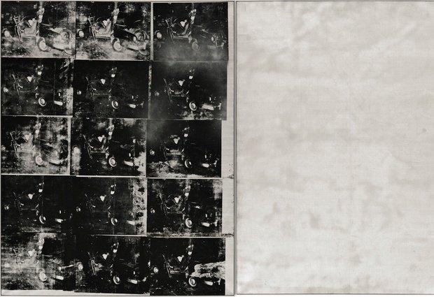 "Andy Warhol, ""Silver Car Crash (Double Disaster)"", 1963. Źródło: Sotheby's"
