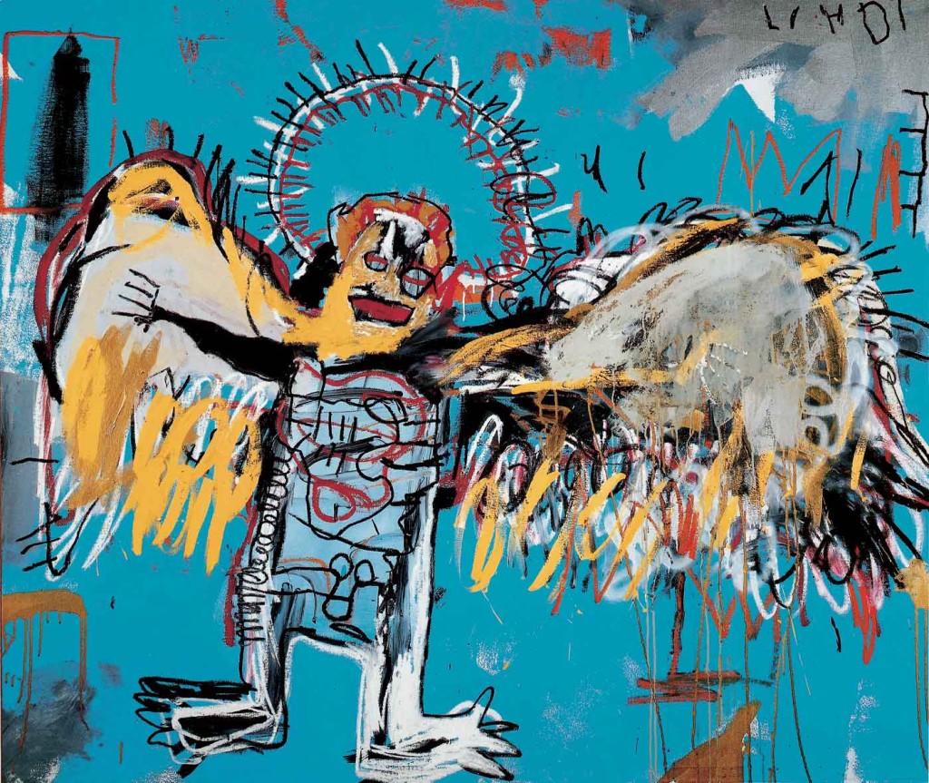 "Jean-Michel Basquiat, ""Untitled (Fallen Angel)"", 1981. Źródło: basquiat.com"