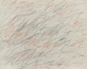 """Cy Twombly, """"Untitled"""". Szacowana cena: $2,500,000-3,500,00. Źródło: Sotheby's."""