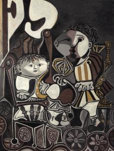 Pablo Picasso, Claude i Paloma, 1950. Źródło: Christie's.