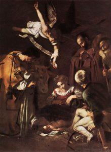 """Caravaggio """"Pokłon pasterzy ze świętym Wawrzyńcem i Franciszkiem"""" : wikipedia.org"""