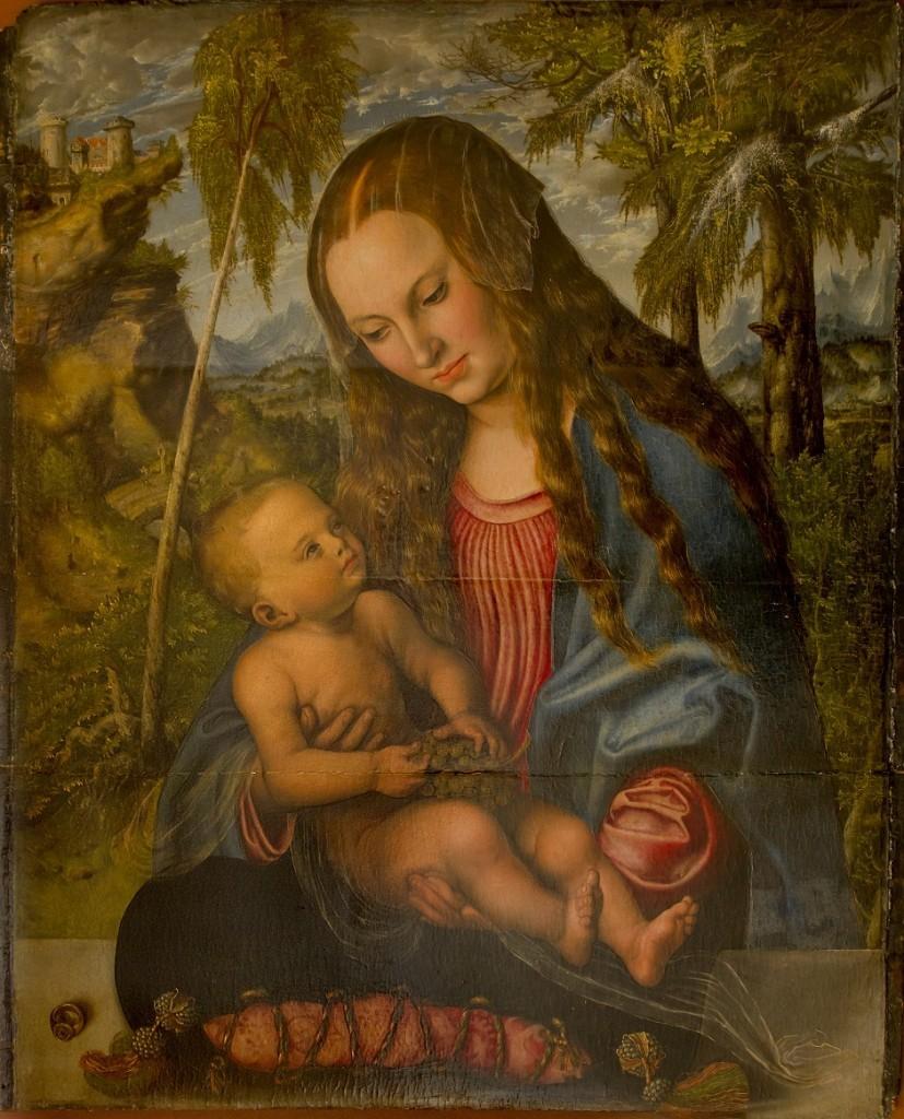Lucas Cranach Starszy, Madonna pod jodłami, 1510 rok, Muzeum Archidiecezjalne we Wrocławiu