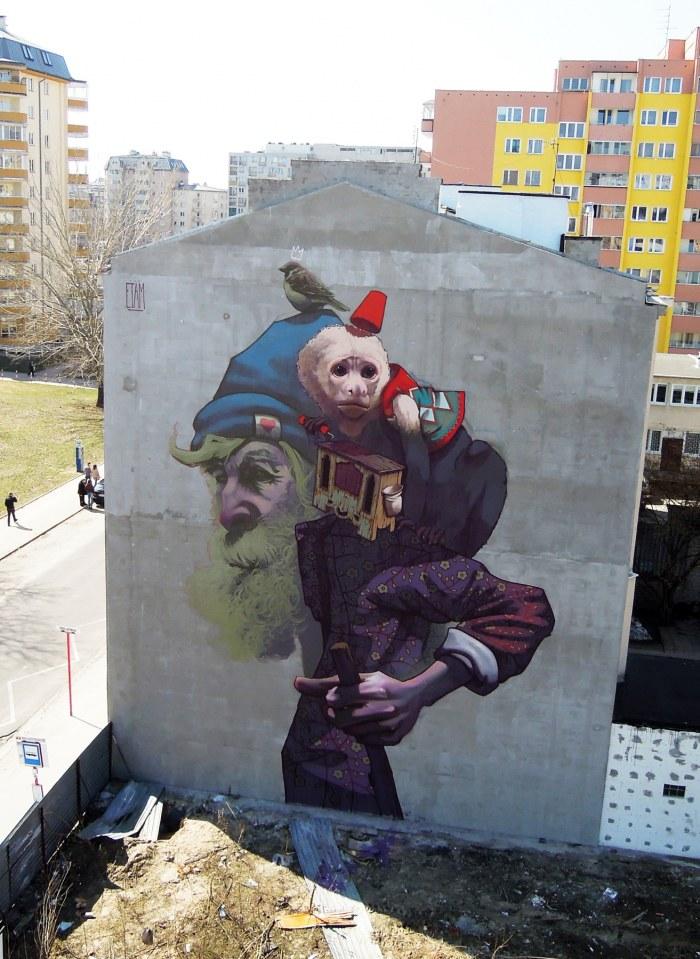 Etam : Monkey Business, Warsaw, Poland, 2013; źródło: www.etamcru.com