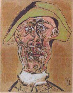 "Pablo Picasso ""Głowa arlekina"": artukraine.com.pl"