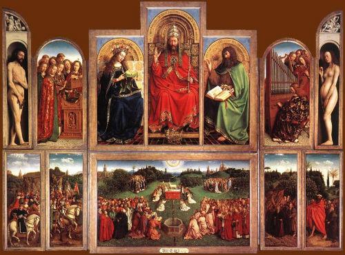 "Jan van Eyck ""Sędziowie Sprawiedliwi"": pmrmaeyaert.com"