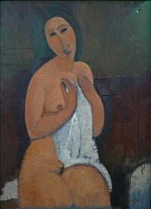 Amadeo Modigliani, Akt siedzący, 1917