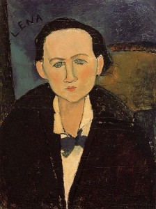 Amadeo Modigliani, Portret Eleny Pavlovski, 1917