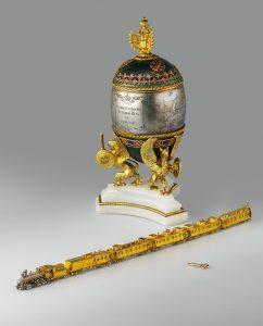 Jajo wielkanocne; Peter Carl Fabergé; źródło Kremlin Muzeum