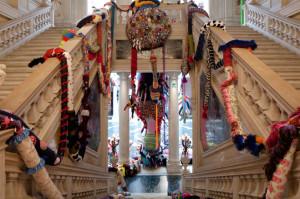 Projekt Joany Vasconcelos 'Contamination' w Fundacji Pinaulta w Palazzo Grassi. źródło: theartnewspaper.com