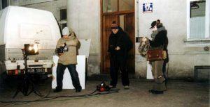 Praca przy projekcie rezydencjonalnym Fredericka Mosera i Philippe'a Schwinger w CSW Zamek Ujazdowski, Warszawa 2005