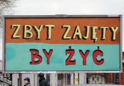 Postkomunistyczna Polska – Galeria Rusz reklamuje sztukę wolnego myślenia