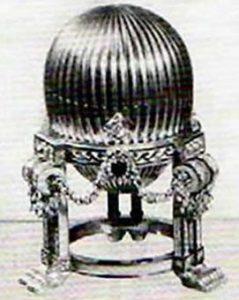 Zdjęcie trzeciego jaja Faberge w katalogu aukcyjnym z 1964 r.