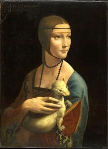 "Leonardo da Vinci, ""Dama z gronostajem"""