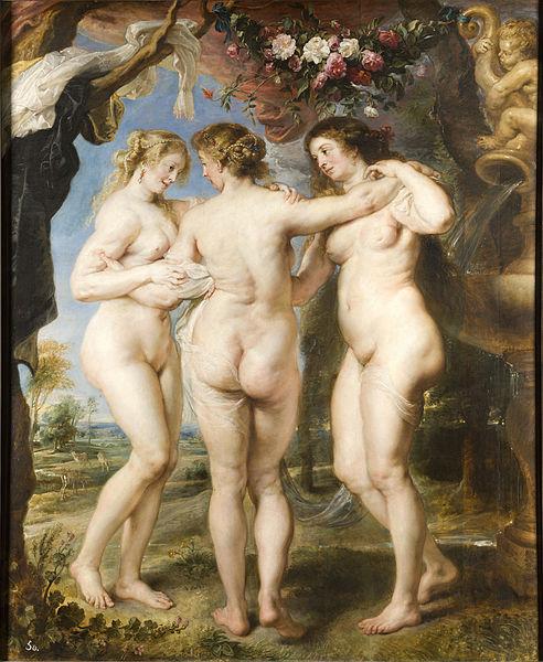 """""""Trzy Gracje"""" Rubens; źródło: Prado Museum"""