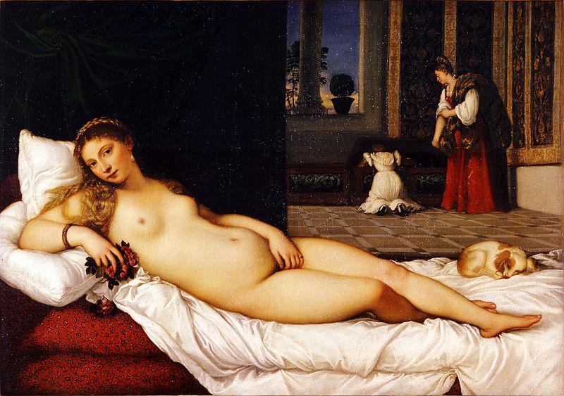 """""""Wenus z Urbino"""" Tycjan; źródło: Galeria Uffizi"""