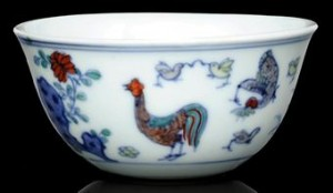 """Chicken Cup"" from the Ming dynasty; źródło: Christie's"
