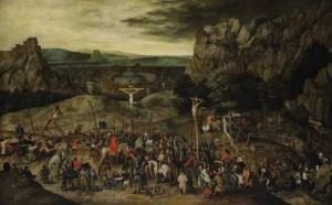 "Pieter Brueghel Younger, ""Calvary"" ; źródło: Olga's Gallery"