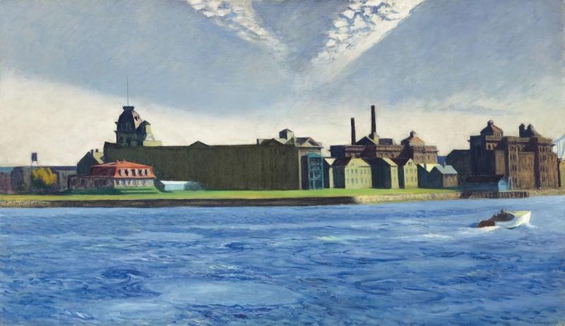 """Edward Hopper """"Blackwell's Island"""", źródło: Christie's"""