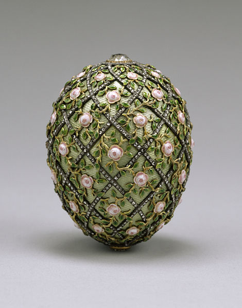"Faberge; ""Rose Trellis Egg""; źródło: Walters Art Museum"