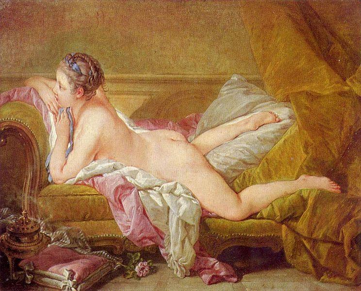 """Louise O'Murphy"" Francoise Boucher; źródło: Alte Pinakothek, Munich"
