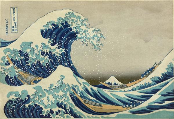 Hokusai Katsushika - Wielka fala w Kanagawa (1829-1832)