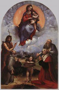 """Madonna of Froligno""; Rafael; źródło: Pinacoteca Vaticana"