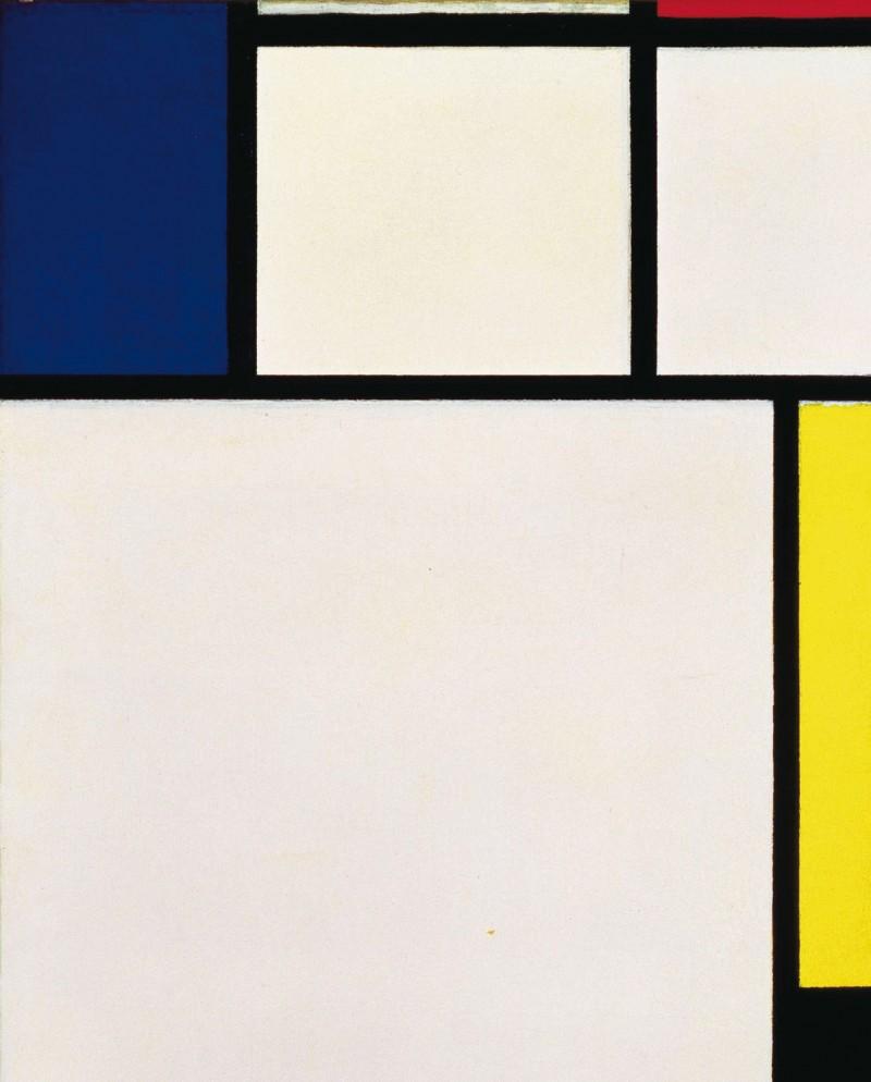 """Piet Mondrian """"Composition avec bleu, rouge, jaune et noir"""", źródło: Christie's"""