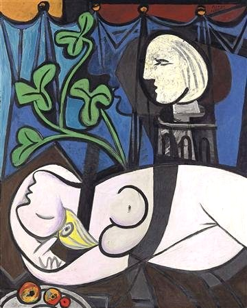 """Nude, Green Leaves and Bust"" Pablo Picasso; źródło: Tate"