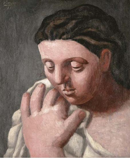 """Pablo Picasso """"Tête et main de femme"""", źródło: Christie's"""