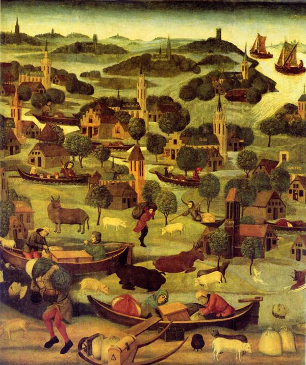 Nieznany autor - Powódź świętej Elżbiety 1421 roku  (1490-1500)