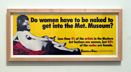 Guerrilla Girls – Do women have to be naked to get into the Met Museum? ; źródło: Met Museum