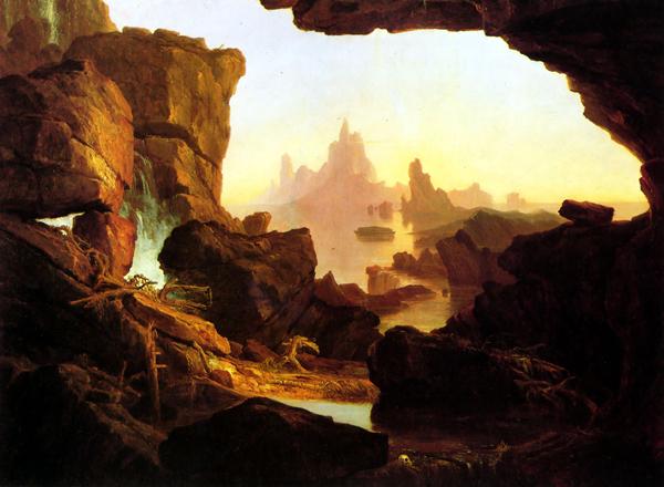 Thomas Cole - Woda, która przychodzi po powodzi (1829)