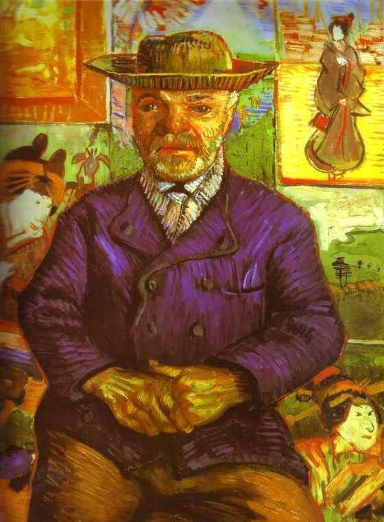 Vincent an Gogh - Portret Ojca Tanguy (1887)