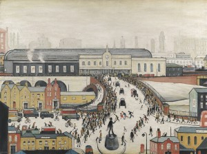 "L. S. Lowry ""Station Approach, Manchester"", źródło: Christie's"