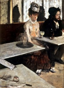 "Edgar Degas ""Absynt"" (1892), źródło: Musée d'Orsay"
