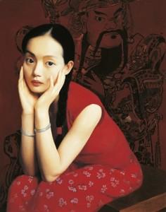 """Wang Yidong """"Sister Spring"""", 1992, źródło: Christie's"""