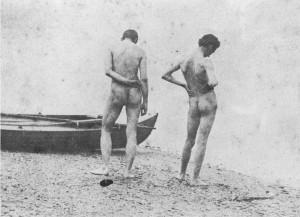 "Thomas Eakins, ""Thomas Eakins and J. Laurie Wallace at the shore"", Metropolitan Museum of Art"