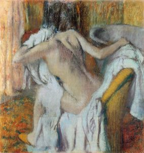 """Degas, """"After the Bath, Woman Drying Herself"""", National Gallery"""