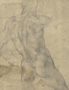 """Michał Anioł, """"Male Nude Seen from Behind"""", Christie's"""
