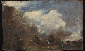 Rysunek olejny odnaleziony na odwrocie dzieła Johna Constable, źródło Victoria & Albert Museum