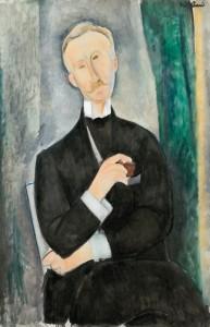"""Amedeo Modigliani """"Portrait de Roger Dutilleul"""" (1884 - 1920), źródło: Christie's"""