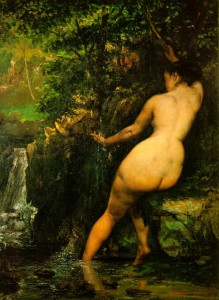 """Courbet, """"The Spring"""", Musée d'Orsay"""