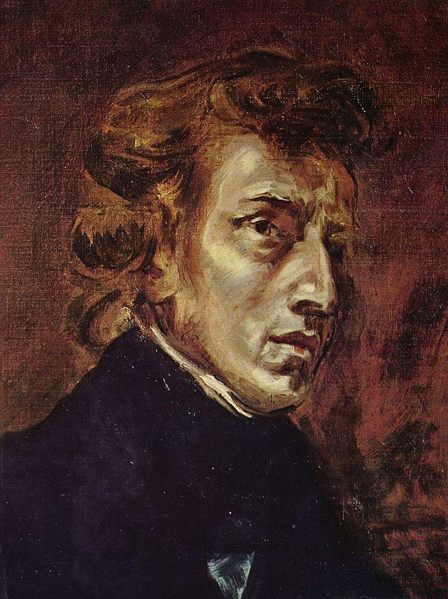 Eugène Delacroix, Portret Fryderyka Chopina, ze zbiorów Muzeum Luwr w Paryżu