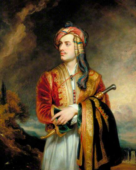 Thomas Phillips, Portret Lorda Byrona, 1813, z kolekcji Government Art Collection