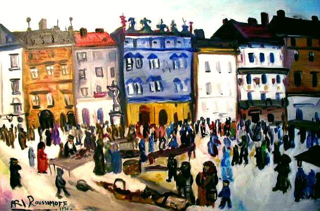 Ari Roussimoff, Rynek we Lwowie, Ukraina, 1970, źródło: roussimoff.com