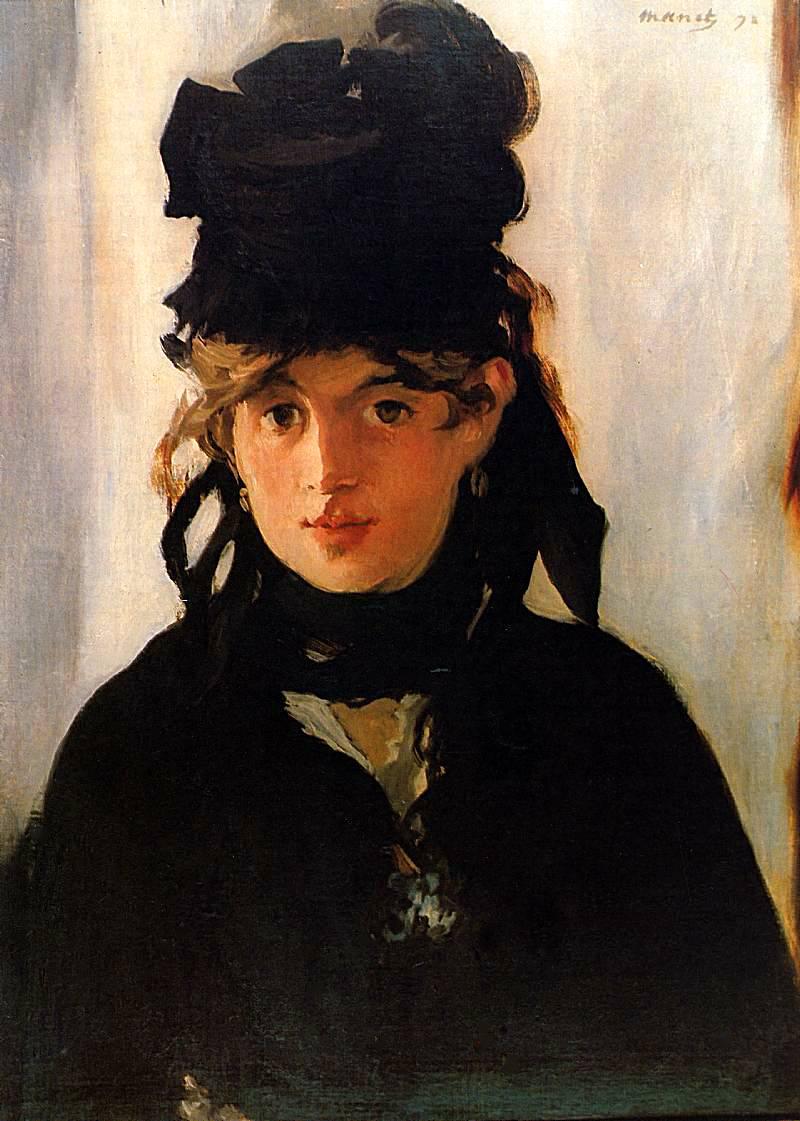 Eduardo Manet, Portret Berthe Morisot z bukietem fiołków, 1872, z kolekcji Musée d'Orsay, Paris