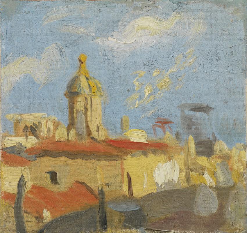 Pablo Picasso, Dachy i kościół Św. Marty, 1900, źródło: Muzeum Picassa